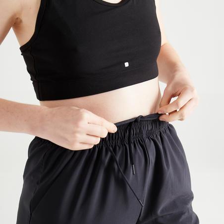 Celana Latihan Fitness Kardio Wanita 100 - Hitam