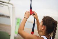 רצועת אימון דגם DST 100 - כחולאדום