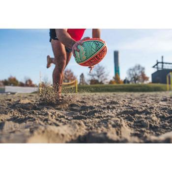 Rugbybal voor beach rugby R100 maat 4 Maori rood/groen