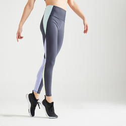 Legging taille haute Fitness gainant colorblock