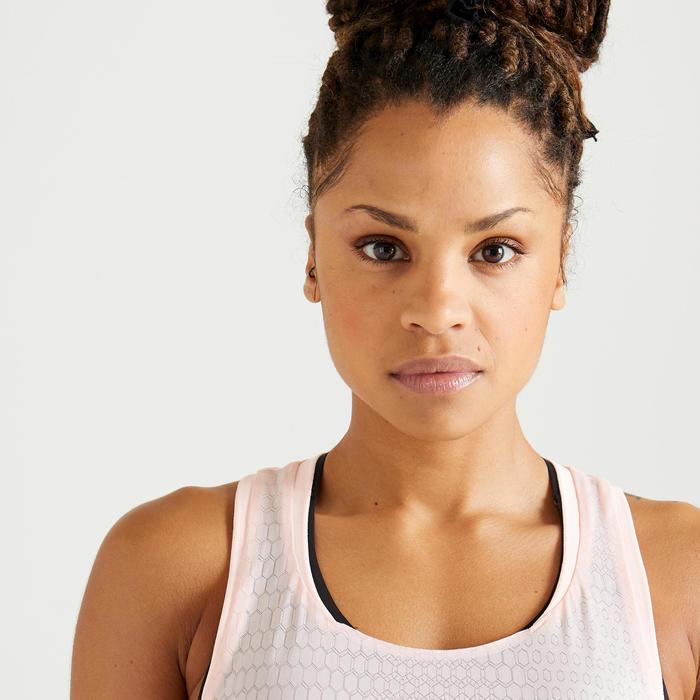 Débardeur fitness cardio training femme rose 900