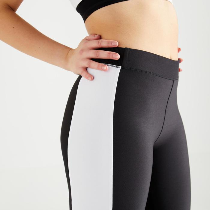 Legging fitness cardio training femme noir et blanc