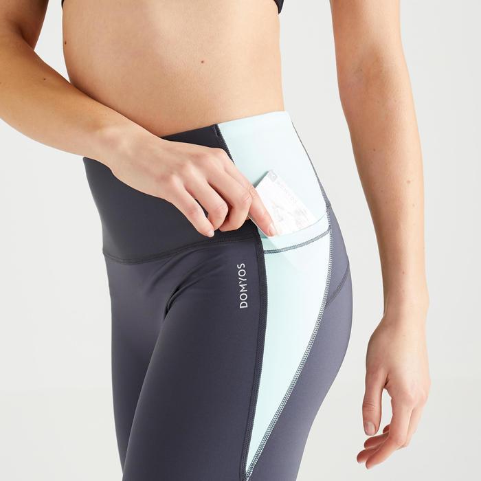 Legging voor cardiofitness dames 500 colorblock