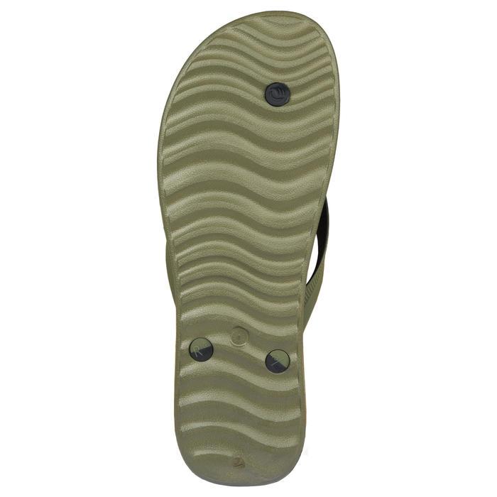 Slippers voor heren 500 kaki
