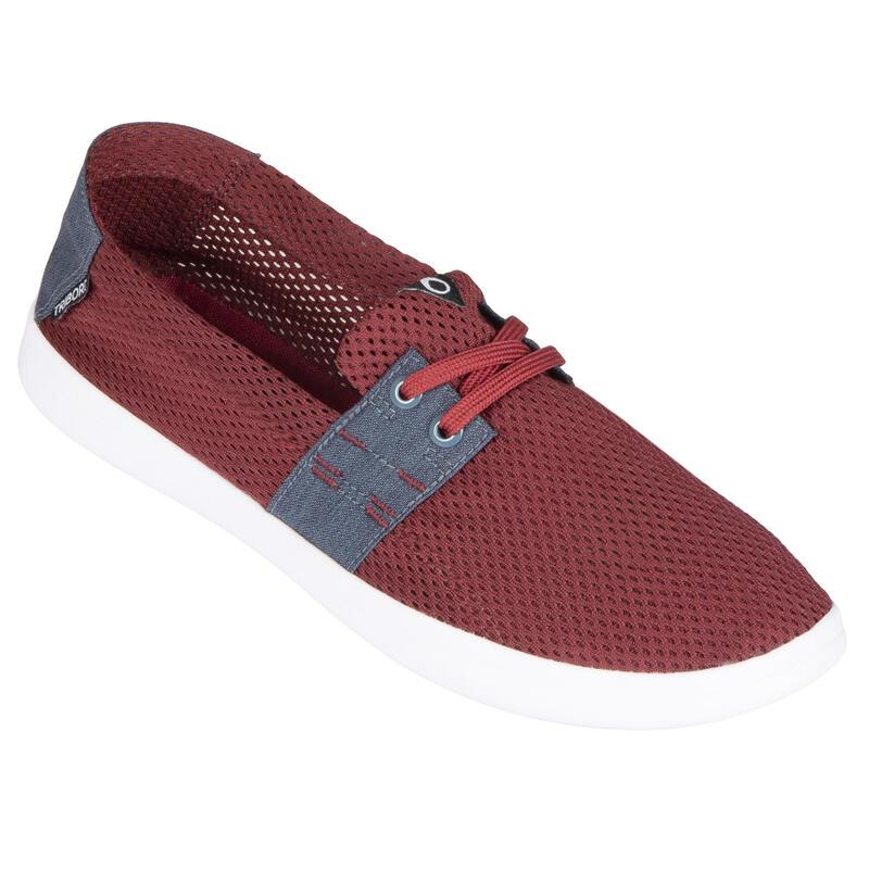 Zapatillas Playa Surf Hombre Olaian Rojo Granate