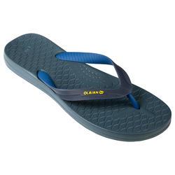 男款夾腳拖鞋500-藍色