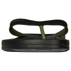 Slippers voor heren 500 zwart/kaki