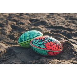 Ballon de rugby Beach R100 midi Maori jaune et vert