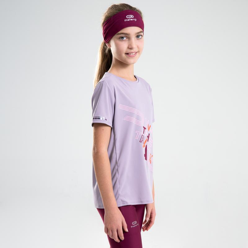 Tee shirt enfant d'athlétisme AT 300 violet