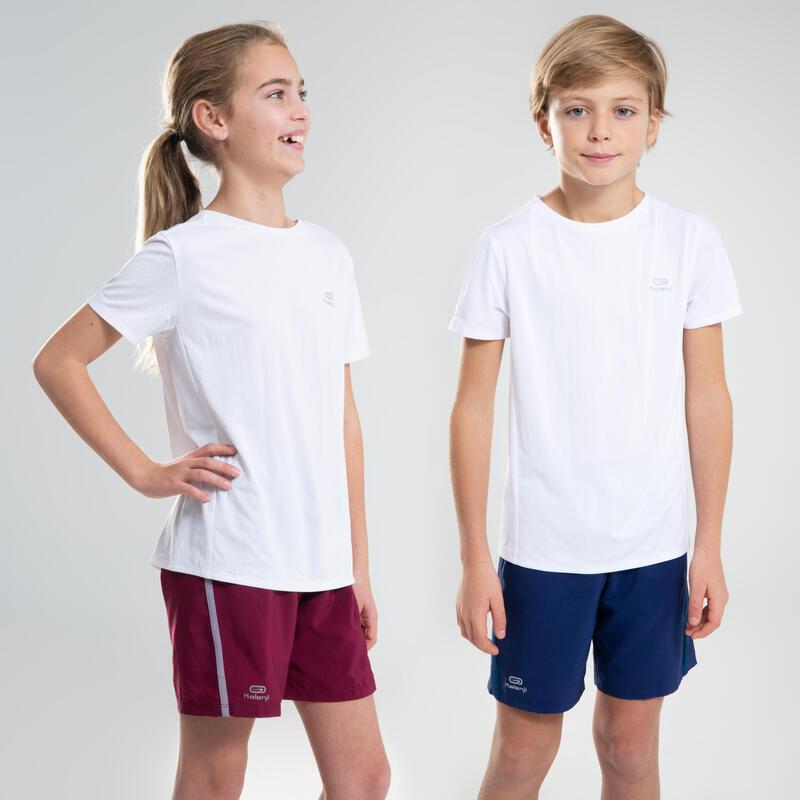 Polera Atletismo Infantil AT100 blanco