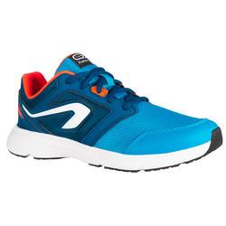 Zapatillas júnior de atletismo Run Support cordones azul turquesa y rojo fluo