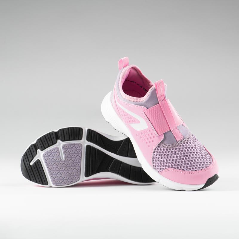 Chaussures enfant d'athlétisme run support easy roses violettes