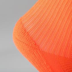 Lot 2 paires de chaussettes athlétisme enfant confort tige haute rouges fluos