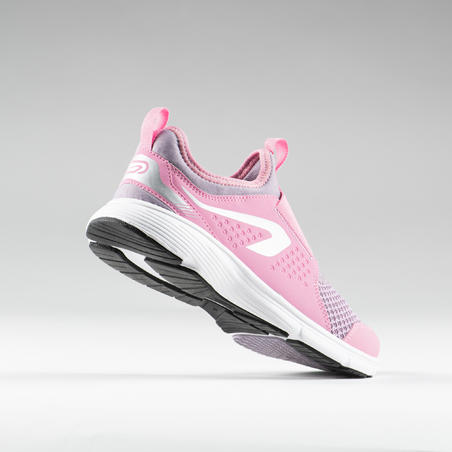 RUN SUPPORT EASY KIDS' ATHLETICS SHOES - PINK/PURPLE