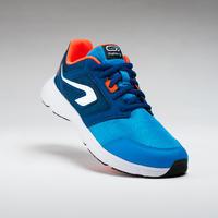 Tenis junior de atletismo Run Support cordones azul turquesa y rojo fluo