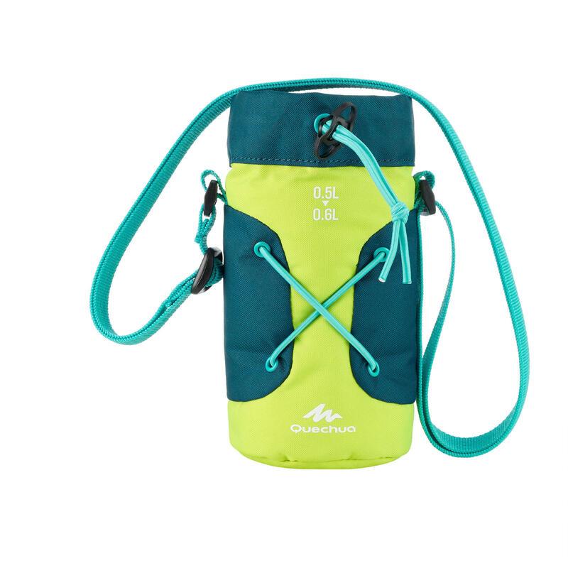 Housse isotherme pour gourde randonnée 0,5 à 0,6 litre jaune / vert