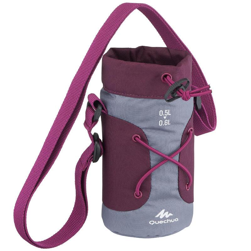 Housse isotherme pour gourde randonnée 0,5 à 0,6 litre gris / violet