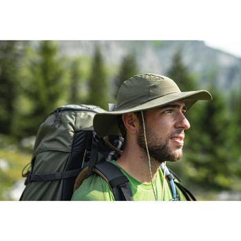 Chapeau de trekking montagne anti-UV |-TREK 500 kaki homme