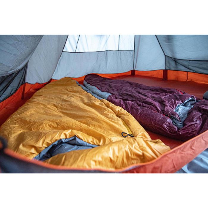 Slaapzak voor trekking Trek 500 5° bordeaux