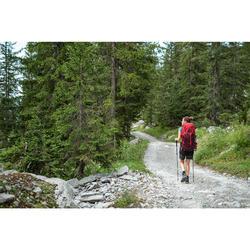 Sac à dos de trekking en montagne femme   TREK 100 Easyfit 50L rouge