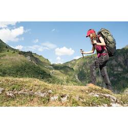 Wandelstok voor bergtrekking eenvoudig en nauwkeurig verstelbaar MH500 groen