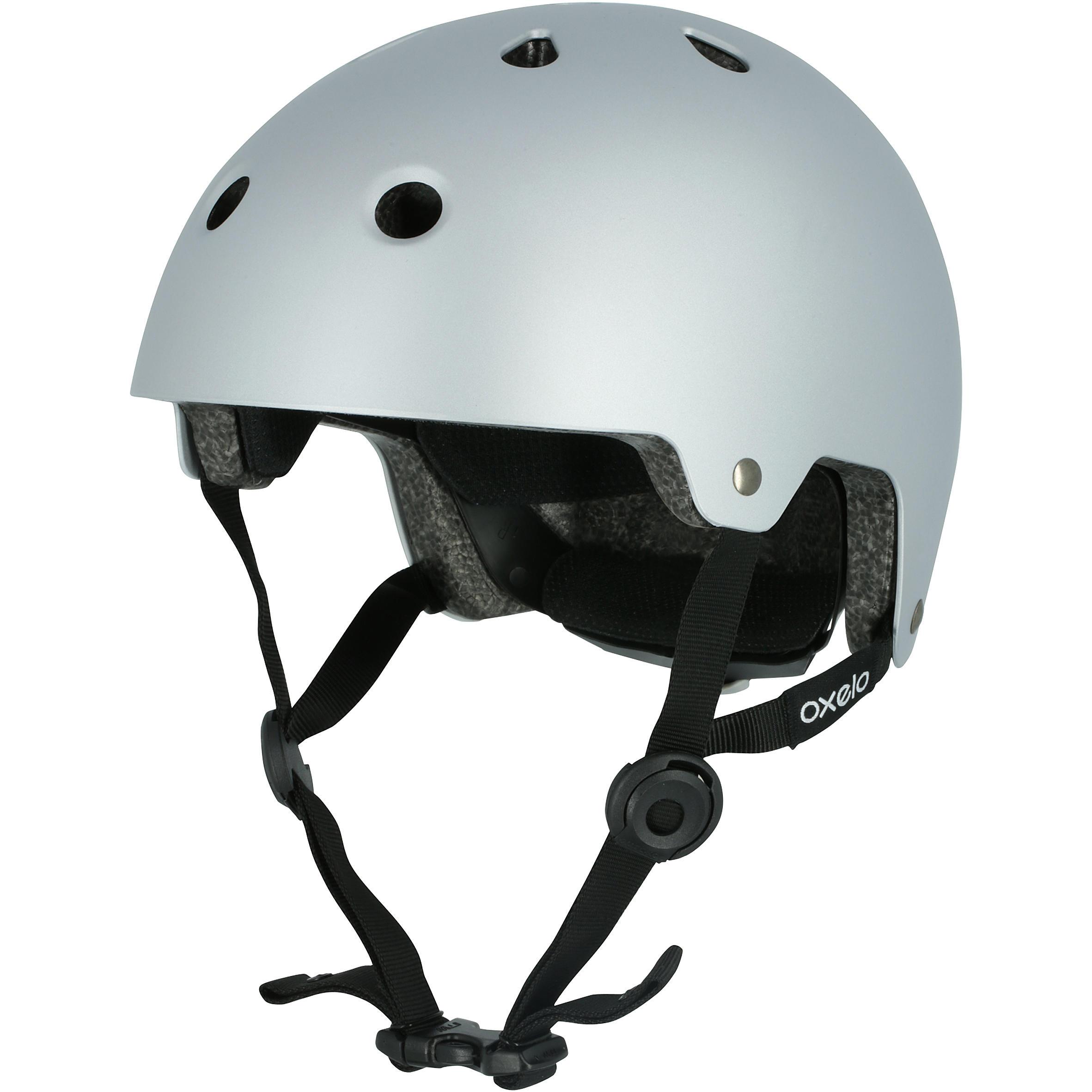Casque patins à roulettes, planche à roulettes, trottinette, vélo PLAY 5 gris