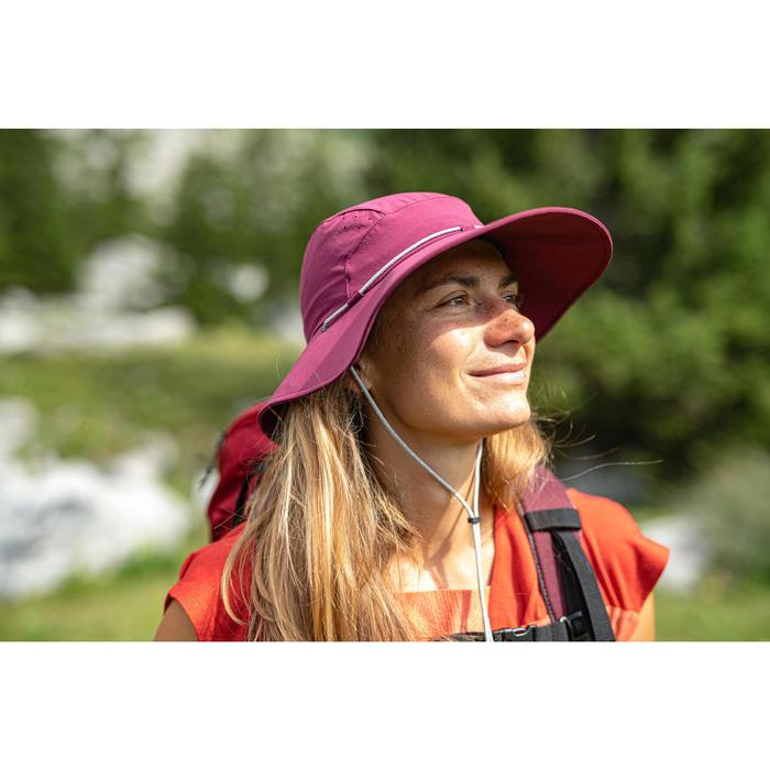 Chapeau de Trekking montagne anti-UV |TREK 500 violet Femme