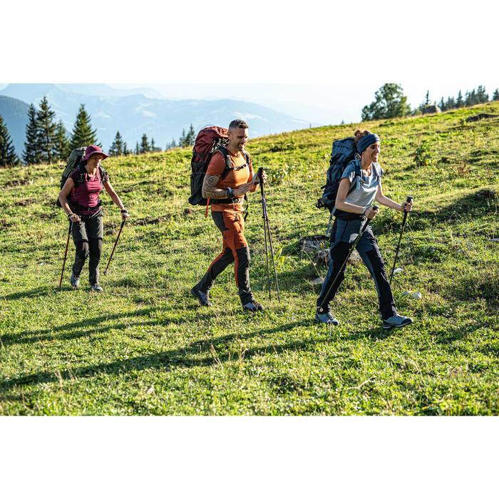 Afritsbroek voor bergwandelingen Trek 500 dames blauw
