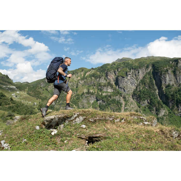 Broek voor bergtrekking heren Trek 100 afritsbaar grijs