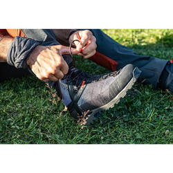 Gola de pescoço de Trekking montanha multiposições - TREK 100 azul cinzento