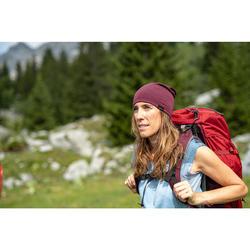 Muts voor bergtrekking merinowol Trek 500 bordeaux