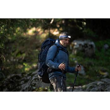 Lampe frontale de trekking rechargeable - TREK 100 USB bleue - 120 lumens