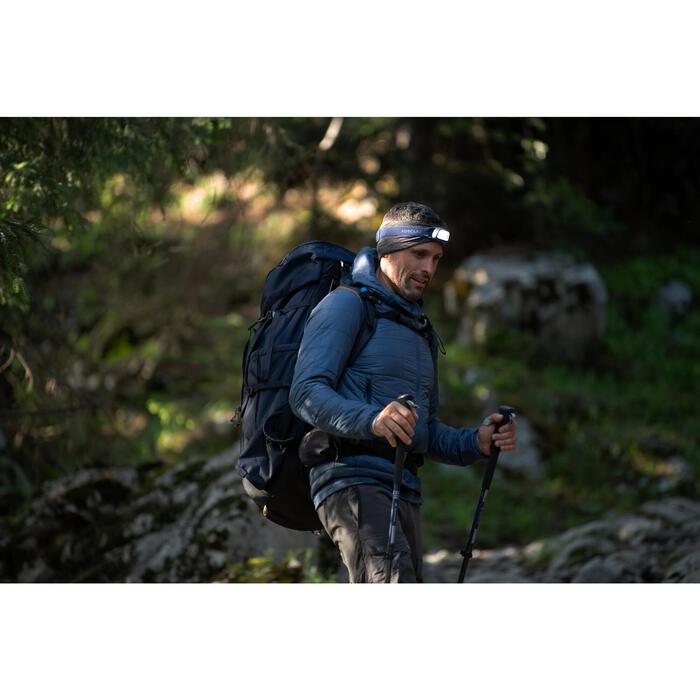 USB-herlaadbare trekkinghoofdlamp Trek 100 blauw 120 lumen