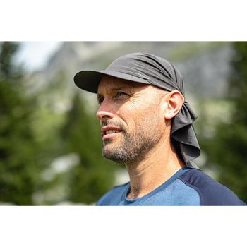 Casquette de trekking montagne - TREK 100 ultra-compacte gris foncé