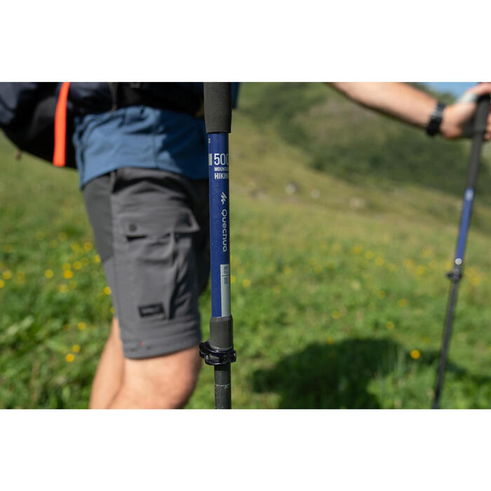 1 Quick and Precise Adjustment Mountain Walking Pole MH500 - Blue