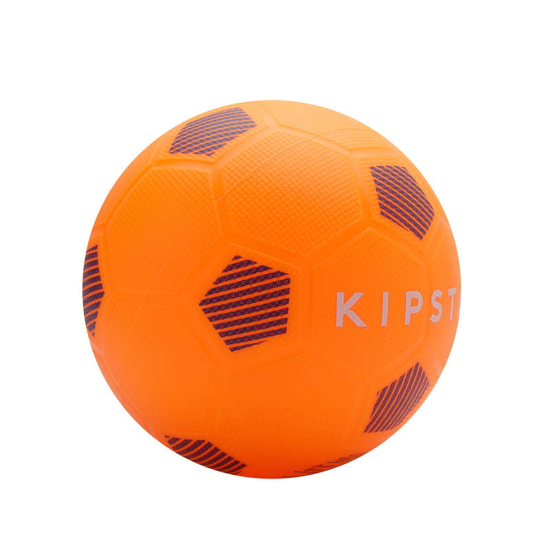 LEASURE FOOTBALL BALLS Football - Sunny 300 Size 5 Orange Black KIPSTA - Football Equipment