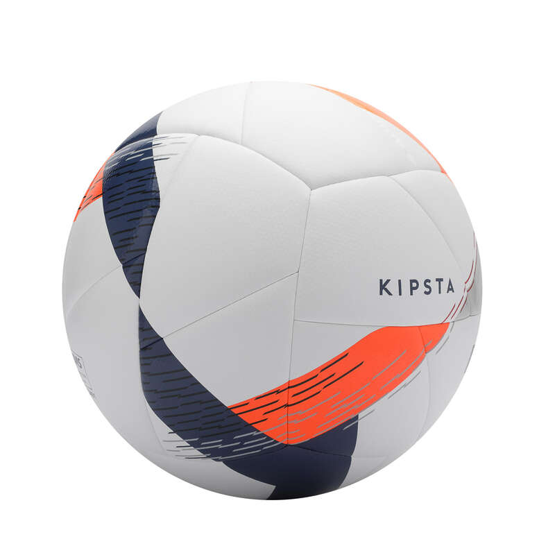 Piłki do gry na naturalnej murawie Baw się sportem - PIŁKA F550 rozm.5 biała KIPSTA - Baw się sportem