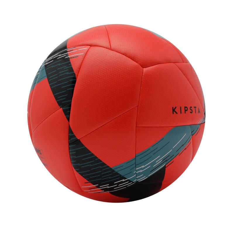 Futbalové lopty FUTBAL - LOPTA F550 V5 ČERVENÁ KIPSTA - FUTBALOVÉ BRÁNKY A LOPTY