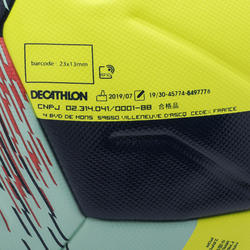 Voetbal F900 FIFA thermisch gelijmd maat 5 geel
