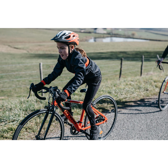 Lange fietsbroek voor kinderen 100 zwart