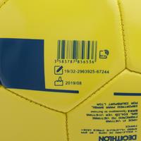 Balón de Fútbol F100 talla 5 (12 años) amarillo