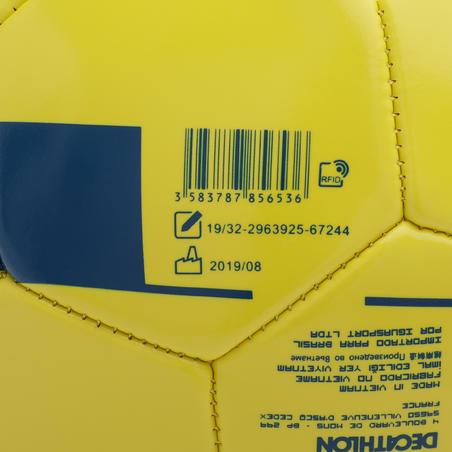 Balón de Fútbol F100 talla 5 (> 12 años) amarillo