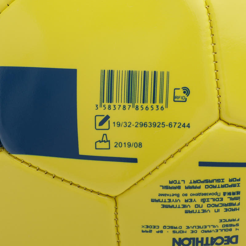 Size 5 (_SUP_12 years) Football F100 - Yellow
