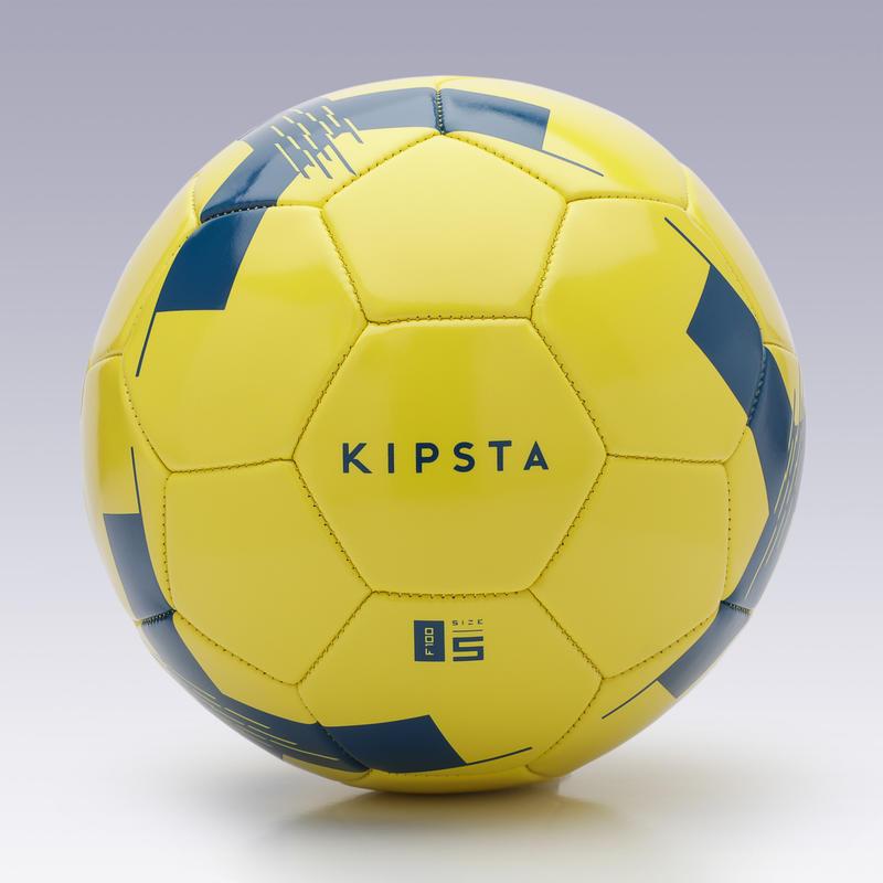 Football Ball F100 Size 5 (_SUP_12 years) - Yellow