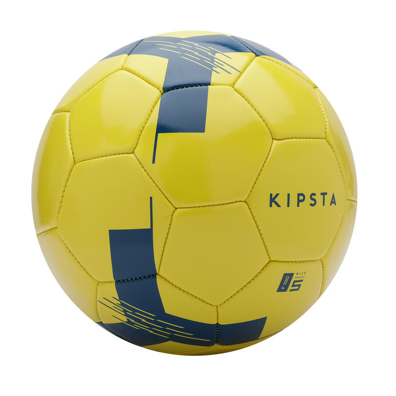 Ballon de football F100 taille 5 (_SUP_ 12 ans) jaune