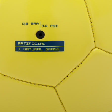 Size 5 (>12 years) Football F100 - Yellow