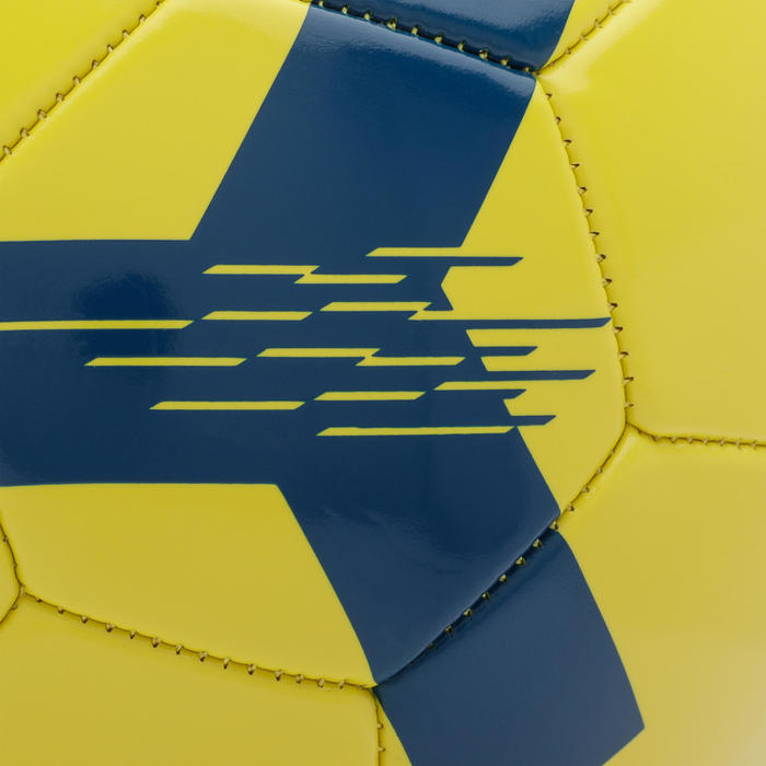 Bola de Futebol F100 tamanho 5 (> 12 anos) amarela
