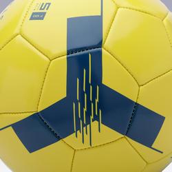 Ballon de football F100 taille 5 (> 12 ans) jaune