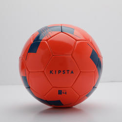 Bola de Futebol F100 Tamanho 4 (crianças de 8 a 12 anos) vermelha