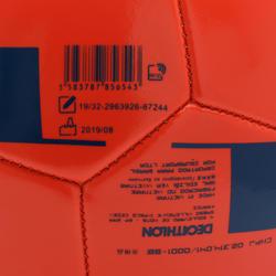 Voetbal F100 maat 4 (tussen 8 en 12 jaar) rood